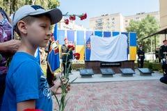 Gedenkteken aan militairen van de Nationale Wacht stock foto's