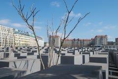 Gedenkteken aan moorde Joden in Europa stock afbeeldingen