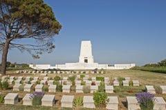 Gedenkteken bij de Gallipoli-Slaggebieden in Turkije royalty-vrije stock foto's