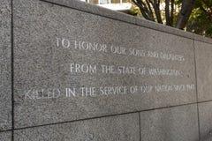 Gedenkteken bij de Tuin van Herinnering in Seattle, Washington, de V.S. stock afbeelding