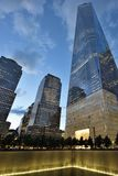 9/11 Gedenkteken bij World Trade Center Stock Foto's