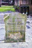 Gedenkteken dichtbij graf van William Blake, Londen stock foto
