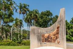 Gedenkteken die het eeuwfeest van kabel overzee, Darwin Australia herdenken stock foto