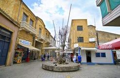 Gedenkteken in Ledras Nicosia/Lefkosia Cyprus stock foto