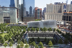 9 11 Gedenkteken, New York, redactie Stock Foto's