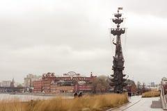Gedenkteken, om de 300ste verjaardag van de Russische vloot te merken, T royalty-vrije stock foto