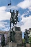Gedenkteken van st Vaclav stock afbeeldingen