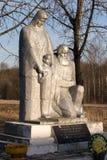 Gedenkteken van Tweede Wereldoorlog in Steshino-dorp op het gebied van Smolensk Stock Fotografie