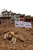 Gedenkteken voor hen die in de aardbeving van Nepal van 25 April stierven Royalty-vrije Stock Afbeelding