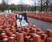 Gedenkteken voor 102.000 holocaustslachtoffers Royalty-vrije Stock Fotografie