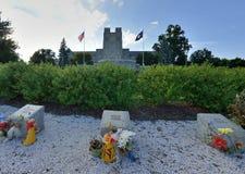 Gedenkteken voor slachtoffers die van April 2007, Virginia Tech schieten stock foto's
