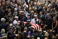 Gedenkveranstaltung von U S Senator John McCain Lizenzfreie Stockfotos