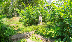 Gedenkwaardig kerkhof in Shipka-Klooster in Bulgarije Stock Fotografie
