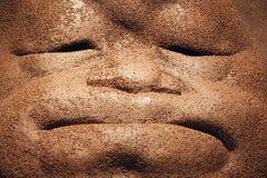 Gedeprimeerd gezicht Stock Foto