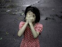 Gedeprimeerd Kind Stock Afbeeldingen