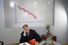 Gedeprimeerde manager royalty-vrije stock foto