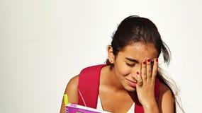 Gedeprimeerde Studente Stock Foto