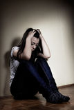 Gedeprimeerde tiener Stock Afbeelding
