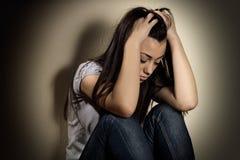 Gedeprimeerde tiener Stock Foto