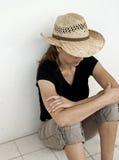 Gedeprimeerde Vrouwen Stock Foto