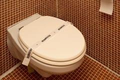 Gedesinfecteerd toilet Stock Foto