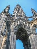Gedetailleerd de stadscentrum van Edinburgh met Scott Monument royalty-vrije stock afbeelding