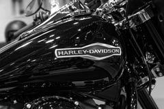 Gedetailleerd deel van verchroomd legendarisch Harley Davidson royalty-vrije stock afbeelding