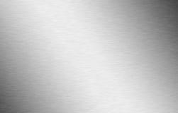 Gedetailleerd geborsteld aluminium in zilver Stock Afbeelding