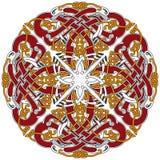 Gedetailleerd Keltisch ontwerpelement met vogels Royalty-vrije Stock Afbeelding