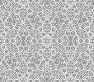 Gedetailleerd vector abstract kantpatroon met de kruising van witte lijnen Stock Afbeelding