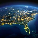Gedetailleerde Aarde Kaarten van de beeldspraak van NASA De V.S. Golf van Mexico en Florida o royalty-vrije illustratie