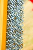Gedetailleerde close-up, partij van zilveren kettingen royalty-vrije stock fotografie
