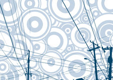 Gedetailleerde conductions van de Telefoon, vector Royalty-vrije Illustratie