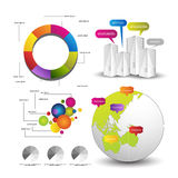 Gedetailleerde elementen van infographics Stock Afbeelding