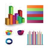 Gedetailleerde elementen van informatie-grafiek met markeringen Stock Foto