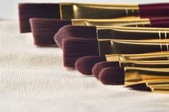 Gedetailleerde fijne Kunst het schilderen borstels Stock Foto's