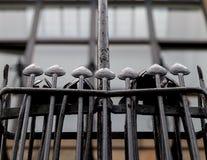 Gedetailleerde foto van de decoratieve staalfabriek op de buitenkant van Glasgow School van de Kunstbouw, Glasgow het UK Stock Afbeeldingen