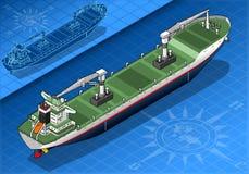 Isometrisch vrachtschip Stock Foto's