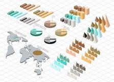 Gedetailleerde illustratie van een Isometrische Infographic Royalty-vrije Stock Afbeelding