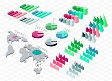 Gedetailleerde illustratie van een Isometrische Infographic-Reeks Royalty-vrije Stock Afbeelding