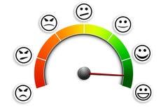 Satisfaction_meter_03 Stock Foto's