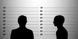 Het silhouet van Mugshot Stock Fotografie