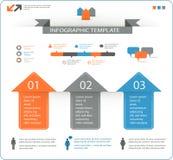 Gedetailleerde infographic die elementen met opties worden geplaatst Stock Afbeeldingen