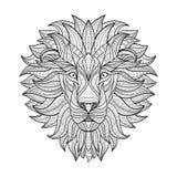 Gedetailleerde Leeuw in Azteekse stijl Royalty-vrije Stock Afbeelding