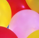 Gedetailleerde Mening van Gekleurde Ballons Stock Afbeelding