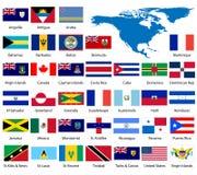 Gedetailleerde Noordamerikaanse vlaggen   vector illustratie