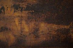 Gedetailleerde structuur van roestig metaal Ijzertextuur Stock Fotografie