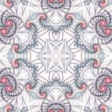 Gedetailleerde swirly mandala Stock Afbeeldingen