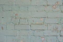 Gedetailleerde Textuur Oude bakstenen muur met sjofele gipspleister Stock Foto