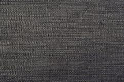 Gedetailleerde textuur van donkere denimdoek Stock Afbeelding
